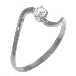 Genuine 0.15 ctw Diamond Anniversary Ring Jewelry 14KT White Gold - REF-34R3P