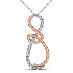 0.25 CTW Diamond Rope Infinity Pendant 10KT Two-tone Gold - REF-22H4M