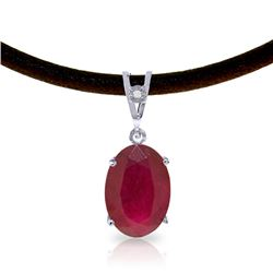 Genuine 7.71 ctw Ruby & Diamond Necklace Jewelry 14KT White Gold - REF-84A2K