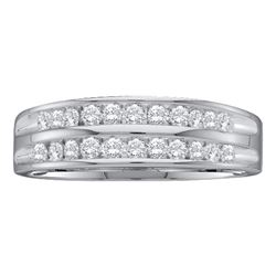 0.25 CTW Diamond 2-Row Fashion Ring 10KT White Gold - REF-22M4H
