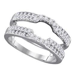 0.50 CTW Diamond Wrap Ring 14KT White Gold - REF-75H2M