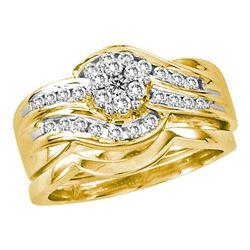 0.50 CTW Diamond Bridal Wedding Engagement Ring 14KT Yellow Gold - REF-75Y2X