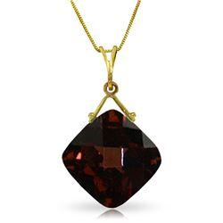 Genuine 8.75 ctw Garnet Necklace Jewelry 14KT Yellow Gold - REF-31H9X