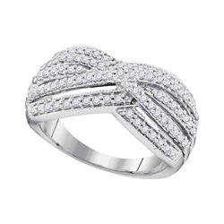 0.62 CTW Diamond Ring 10KT White Gold - REF-64K4W
