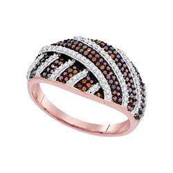0.52 CTW Red Color Diamond Fashion Ring 10KT Rose Gold - REF-55M5H