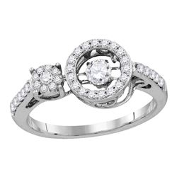 0.48 CTW Diamond Solitaire Ring 10KT White Gold - REF-43H4M