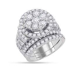 4.9 CTW Diamond Bridal Wedding Engagement Ring 14KT White Gold - REF-524W9K
