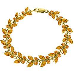 Genuine 16.5 ctw Citrine Bracelet Jewelry 14KT Yellow Gold - REF-179K2V