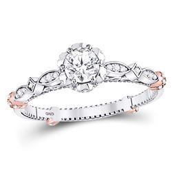 0.79 CTW Diamond Ring 14KT 2Tone Gold - REF-255Y5X
