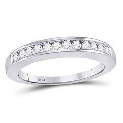 0.25 CTW Diamond Single Row Wedding Ring 14KT White Gold - REF-30X2Y