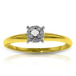 Genuine 0.03 ctw Diamond Anniversary Ring Jewelry 14KT Yellow Gold - REF-30X2M