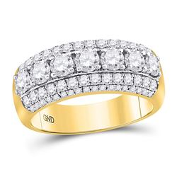 2.16 CTW Diamond Ring 14KT Yellow Gold - REF-357M8K