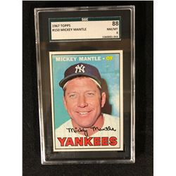 1967 TOPPS #150 MICKEY MANTLE  (NM/MT 8) SGC GRADED