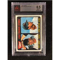 1965 TOPPS #477 ACKLEY/ CARLTON (8.5 NM-MT+) BVG GRADED