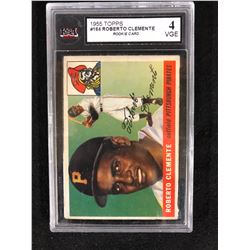 1955 Topps 164 Roberto Clemente Rookie Card 4 Vge Ksa Graded