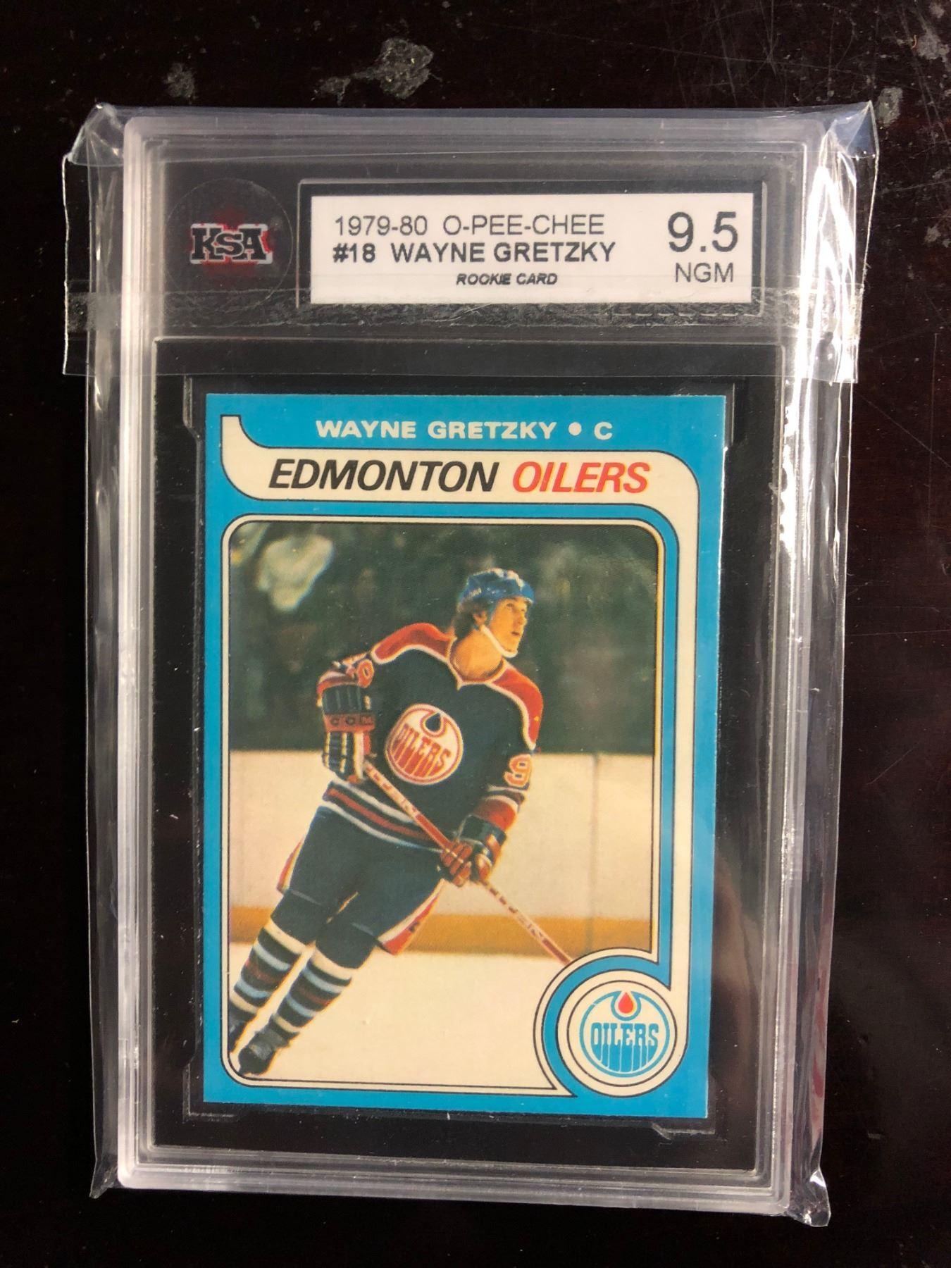 1979 80 O Pee Chee 18 Wayne Gretzky Rookie Card 95 Ngm Ksa Graded