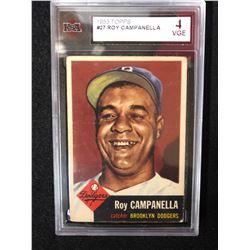 1953 TOPPS #27 ROY CAMPANELLA (4 VGE)