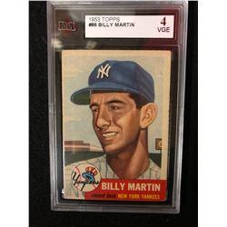 1953 TOPPS #86 BILLY MARTIN (4 VGE) KSA GRADED