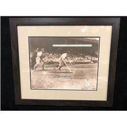 "JOE DiMAGGIO SIGNED 11"" X 14"" FRAMED BASEBALL PHOTO W/ JSA LOA"