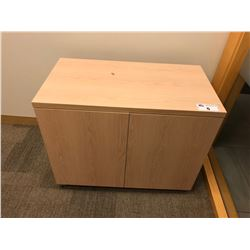 MAPLE 2 DOOR STORAGE CABINET