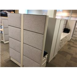 TEKNION GREY PATTERN OFFICE PARTITION SYSTEM