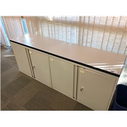 6' 4 DOOR OFF WHITE STORAGE CREDENZA