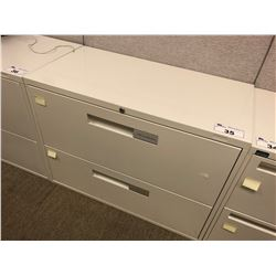 OFF WHITE 2 DRAWER LATERAL FILE CABINET
