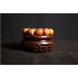 Thuja Sutchuenensis Bead Bracelet with Beads in Chinese Date Shape. Condition as is, shown in photo