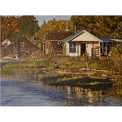 Late Summer - Finn Slough; Dan Varnals. Dan Varnals (1931-), who was born in London, UK, is one of t