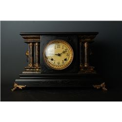 American Style Gilt-Decorated Desk Clock Made in the United States By American Company -  New Haven