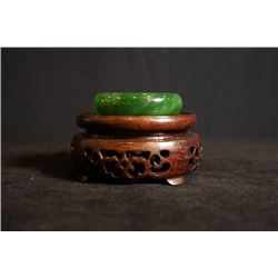 Russian Jade Bracelet. Condition as is, shown in photos.