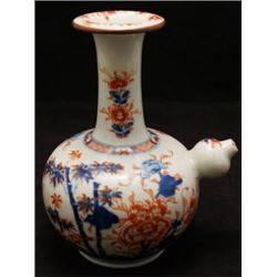 "Qing Dynasty ""Kang Xi"" Blue-and White & Iron-Red ""Floral"" Brown-Glazed Ewer. Condition as is, shown"