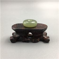 """Grade-A """"Lucky"""" Jadeite Pendant(Ping An Kou). Condition as is, shown in photos."""