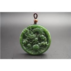 """Flying Dragon"" Jade Pendant. Condition as is, shown in photos"