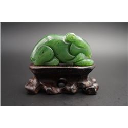 """Mouse"" Jade Pendant. Condition as is, shown in photos"