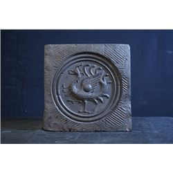 "Han Dynasty ""Phoenix"" Brick. Condition as is, shown in photos"