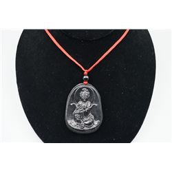 "A class Lantian jade ""Guan Yin"" pendant,  Condition as is, shown in photo"
