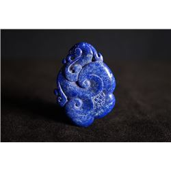 A lapis lazuli pendant. Condition as is, shown in photo