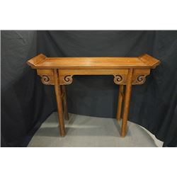 A Wenge Wood Qiaotou Table. Condition as is, shown in photos.