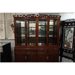 A Large Rosewood Cabinet. Condition as is, shown in photos.