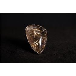 A cooper rutilated quartz ring. Condition as is, shown in photo