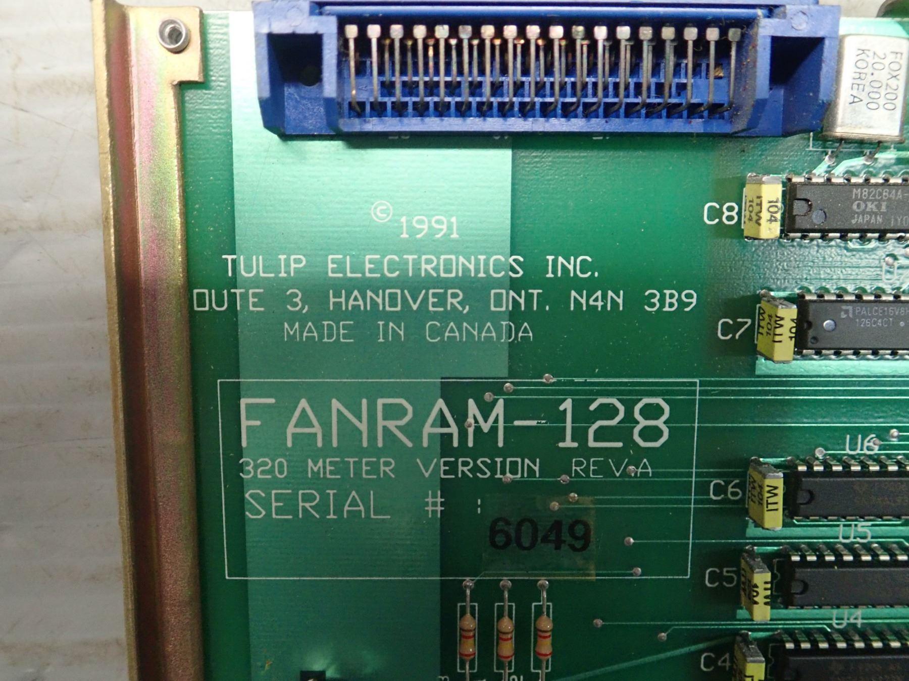 TULIP ELECTRONICS INC  FANRAM-A128 CIRCUIT BOARD