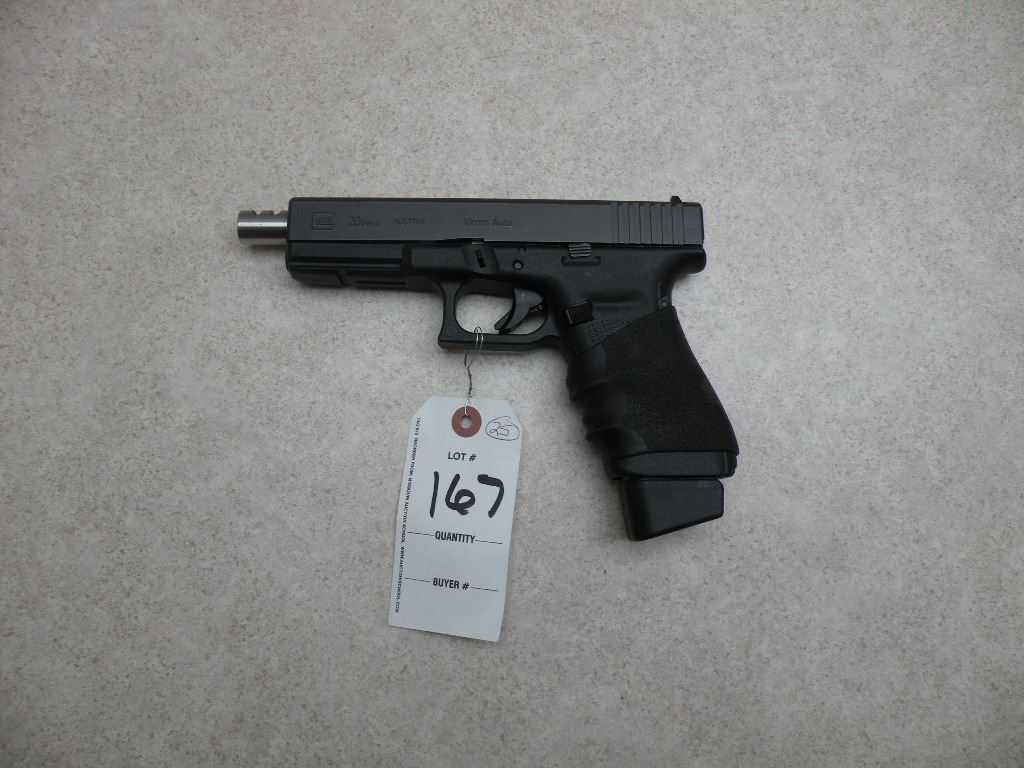 Glock 20 Gen 4, 10mm PERMIT REQUIRED SN#-WCW778