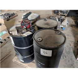 (3) BARRELLS OF COOLANT AND 2 MISC BARRELS