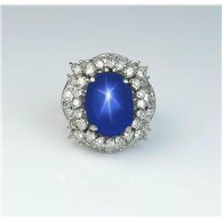 18CAI-32 CEYLON BLUE STAR SAPPHIRE RING