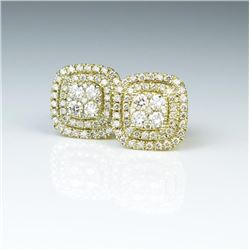 18CAI-10 IDEAL CUT DIAMOND EARRINGS
