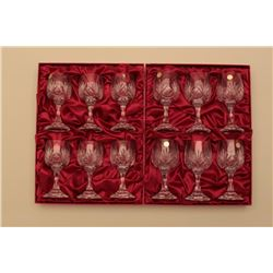 18RPS-12 CRYSTAL WINE GLASSES