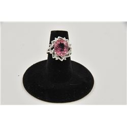 18RPS-53 TOURMALINE & DIAMOND RING