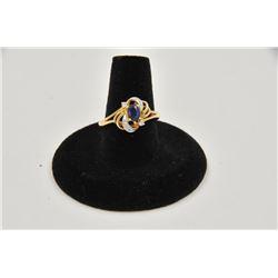 18rps-25 SAPPHIRE & DIAMOND RING