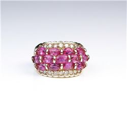 18CAI-45 PINK TOURMALINE & DIAMOND RING